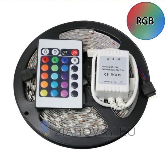RGB LED pás 5metrový viacfarebný s ovládačom 580x5801 580x580 AKCIE !