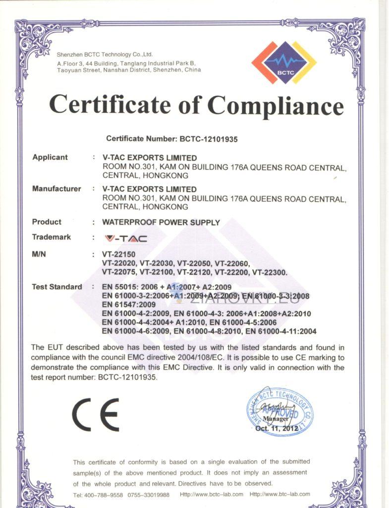 1 791x1024 CE a RoHS Certifikáty