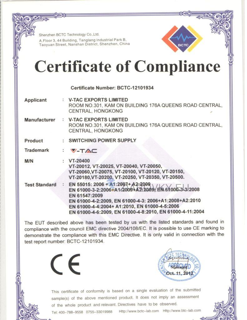 2 791x1024 CE a RoHS Certifikáty