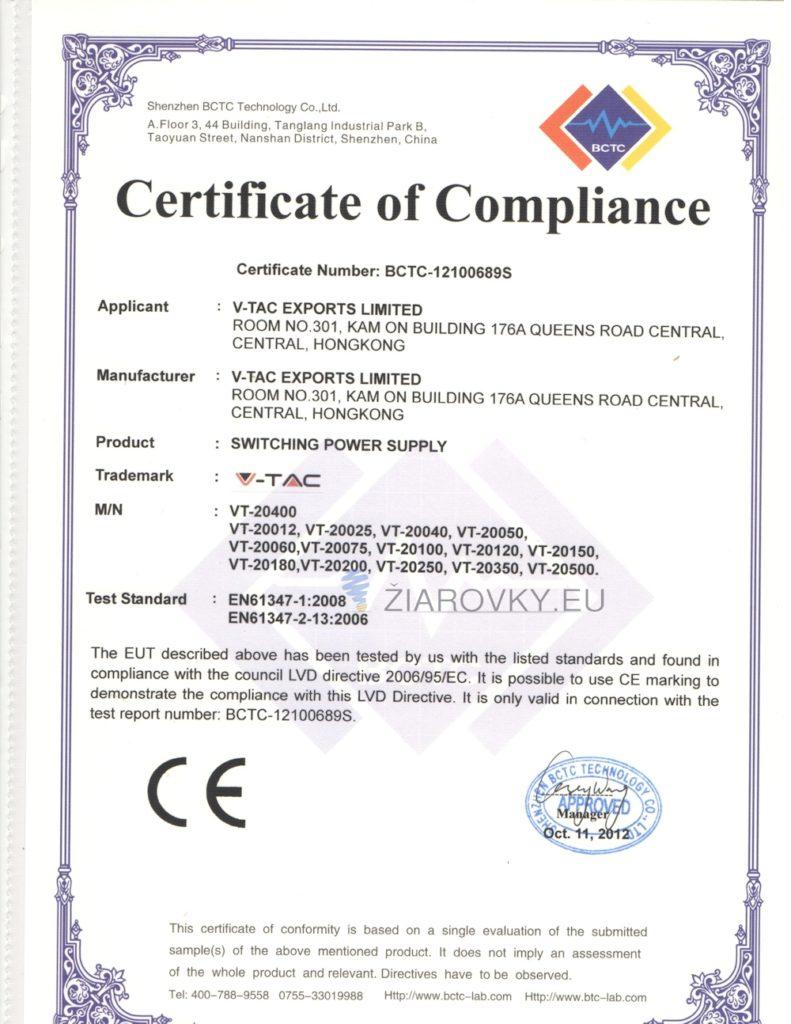 4 791x1024 CE a RoHS Certifikáty