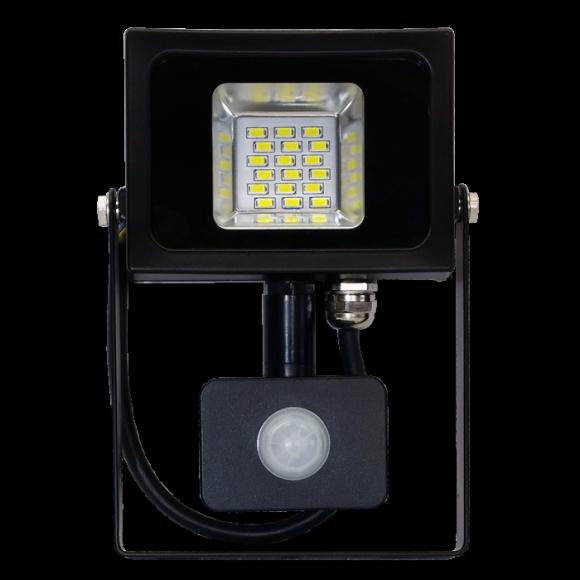 LED reflektor so senzorom - 10W Premium, 800 - 1000lm, Teplá biela