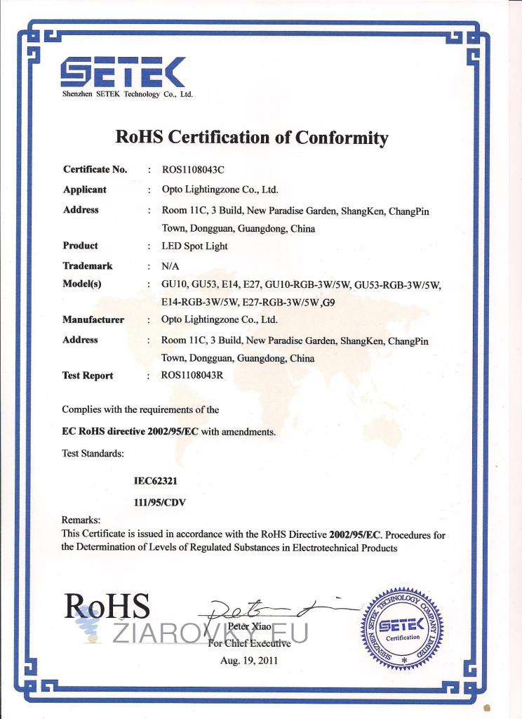 g9 rohs 744x1024 CE a RoHS Certifikáty