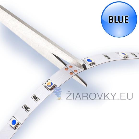 Modrý jednofarebný LED pás