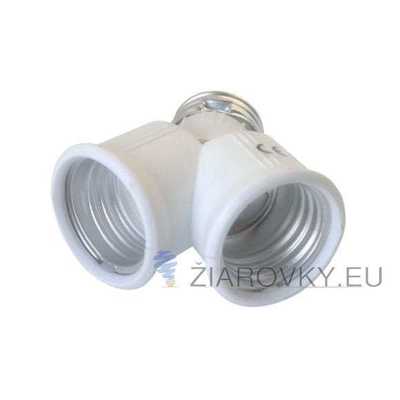 Rozdvojka pätice E27 na 2x E27 pre LED