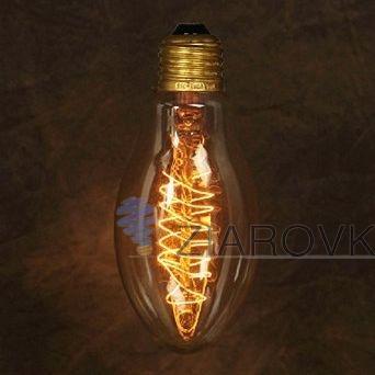 žiarovka z retro kolekcie EDISON v tvare modernej sviečky