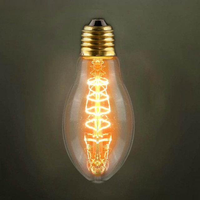EDISON žiarovka - CAGE- je žiarovka z retro kolekcie EDISON v tvare modernej sviečky z minulého storočia. Žiarovkaobsahuje slučky vlákien z volfrámu, ktoré sa ťahajú celým centrálnym pilierom zdroja žiarovky