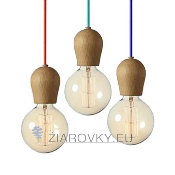 Drevené dubové svietidlo stropné