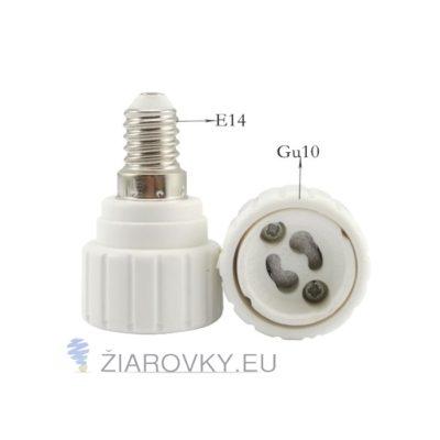 Kvalitný adaptér E14 - GU10 ktorý zmení závit E14 na závit GU10