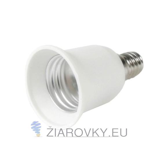 Kvalitný adaptér E14 - E27 ktorý zmení závit E14 na závit E27