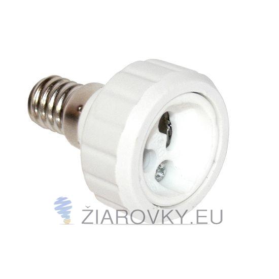 S touto redukciou môžete použiť žiarovku s päticou GU10 v svietidle s päticou E14