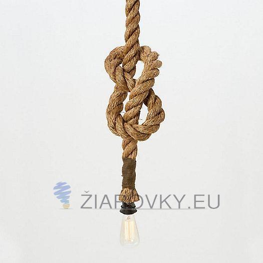 Závesný lanový luster v historickom vzhľade s priemerom 25mm