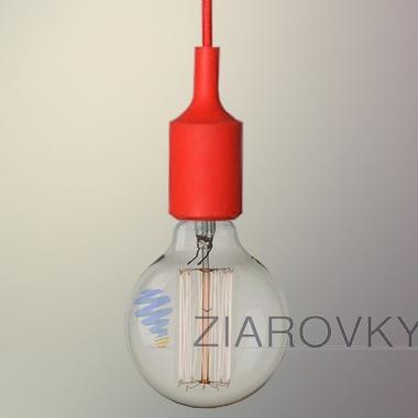 silikonove svietidlo_cervene