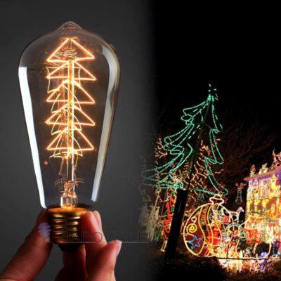 EDISON žiarovka - CHRISTMAS je vo vianočnom dizajne a poskytuje krásne kultivované svetlo