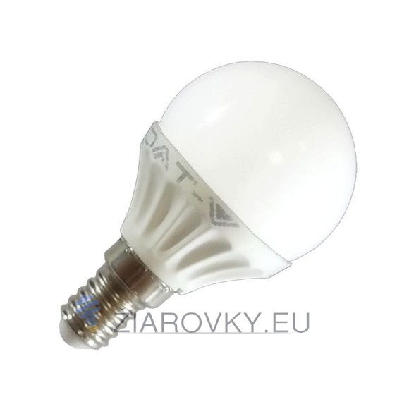 Žiarovka LED so závitom E14 a výkonom 4W so studenou bielou farbou svetla. Je vhodná na osvetlenie interiéru, chodby, obývačky alebo do záhrady