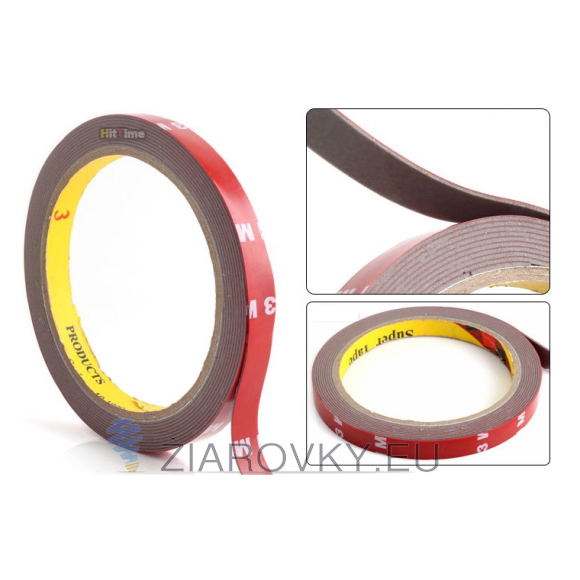 3M lepiaca obojstranná páska 3000x10mm vhodná na lepenie hliníkových líšt na led pásy, led pásov a iných zariadení