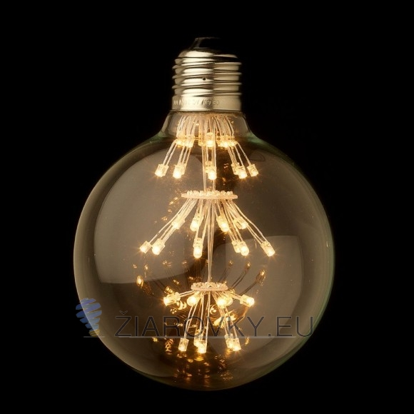 FIREWORKS žiarovka - SHINES - je žiarovka z retro kolekcie  FIREWORKS v tvare gule z minulého storočia