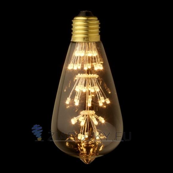 FIREWORKS žiarovka - TEARDROP - E27, 3W, 200lm