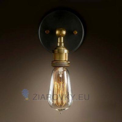 Historické nástenné svietidlo na žiarovky typu E27 je svietidlo určené na stenu v rustikálnom vzhľade
