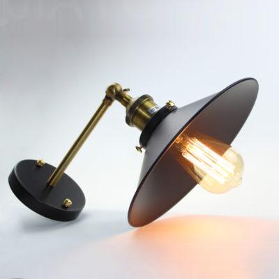 Historické nástenné svietidlo s tmavým tienidlom (2)