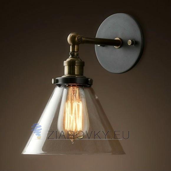 Historické nástenné svietidlo so skleneným tienidlom www.ziarovky.eu  580x580 AKCIE !