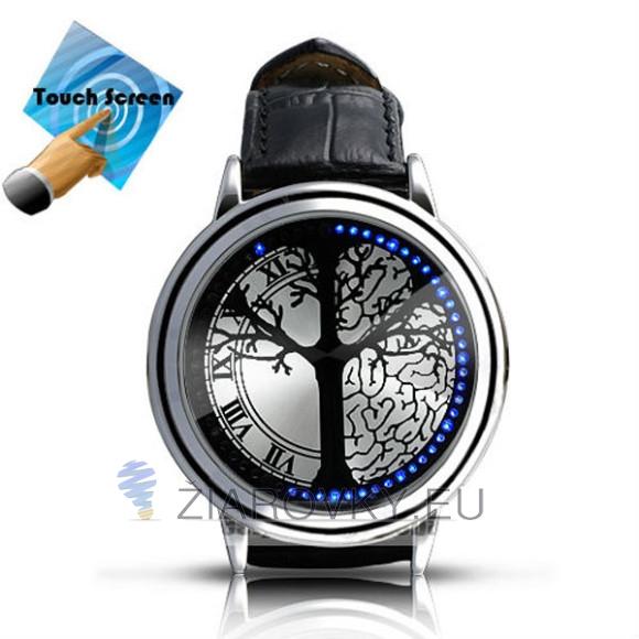 Modré LED hodinky strom života s dotykovým displejom 580x580 AKCIE !