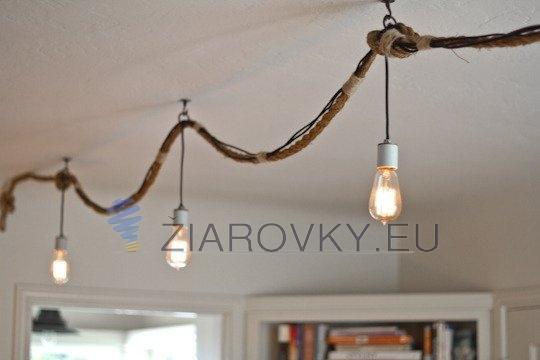 Dekoračné osvetlenie v podobe retro žiaroviek v historickom vzhľade ŽIAROVKY EDISON – EDISONOVE ŽIAROVKY