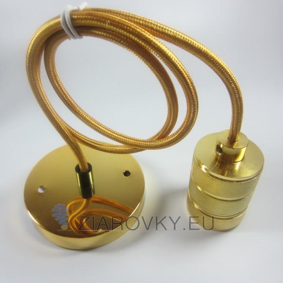 Elegantné závesné svietidlo v zlatej úprave