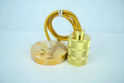 Kovové svietidlo RETRO, zlatá farba (2)