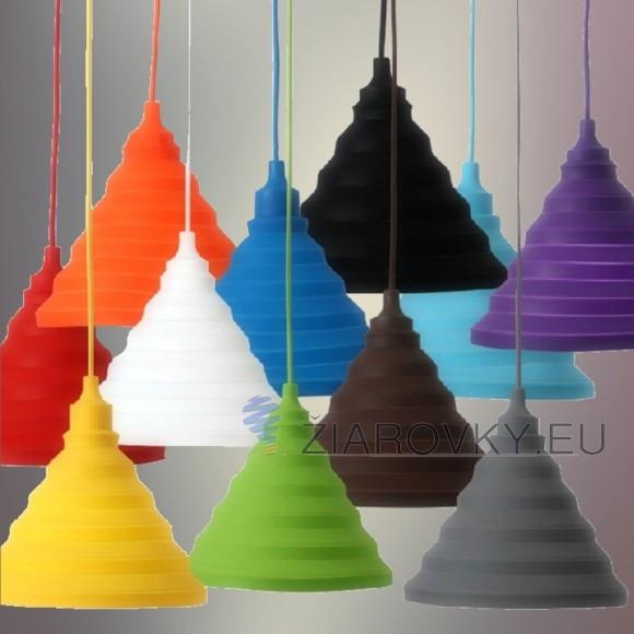 Moderný závesný silikónový luster s textilnou šnúrou vo farbe podľa výberu. Tento moderný typ lustra nemôže vo Vašej obývacej izbe jedálni alebo spálni chýbať.1 580x580 AKCIE !