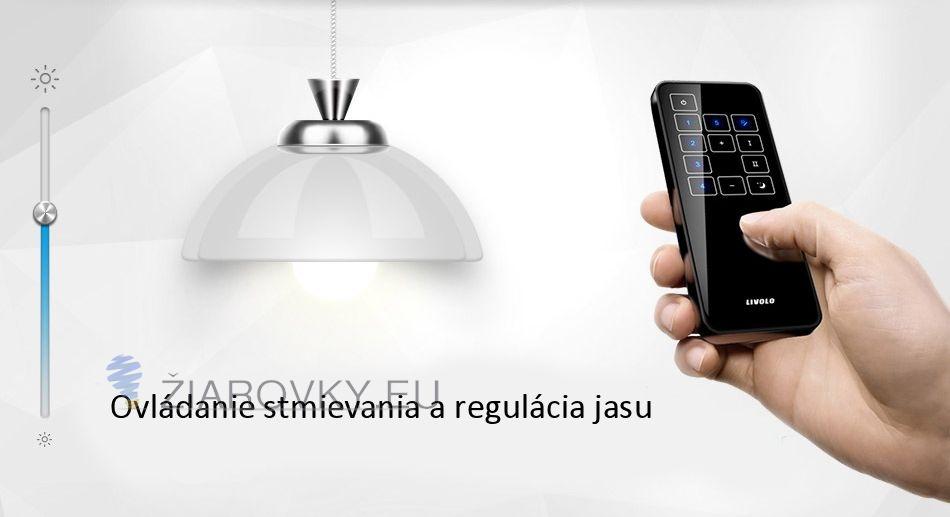Ovládač používa rádiovú technológiu, čiže nie je potrebné aby bol priamo viditeľný s prijímačom v dotyčnom vypínači