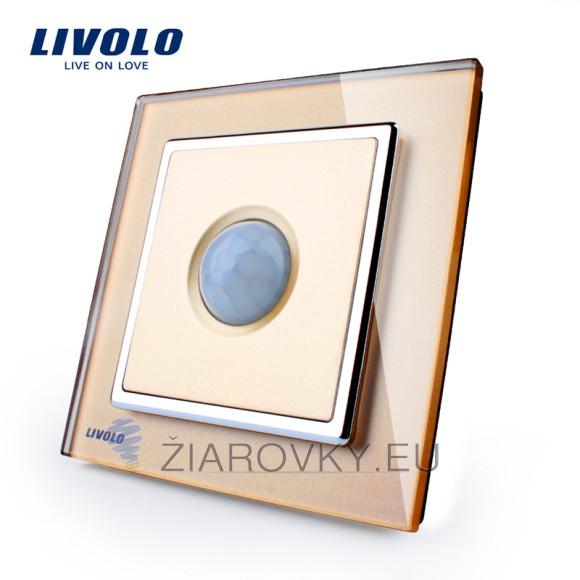 PIR pohybové čidlo, Vypínač svetla, zlatý kryštálový panel