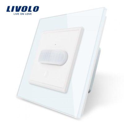PIR pohybové čidlo, Vypínač svetla, biely kryštálový panel.