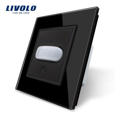 PIR pohybové čidlo, Vypínač svetla, čierny kryštálový panel