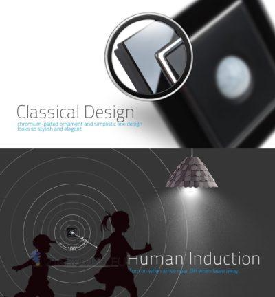 Pohybový senzor zapne osvetlenie na základe zaznamenaného pohybu v priestore senzoru (do 4 m)