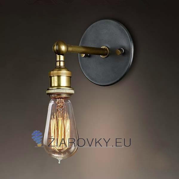 Historické nástenné svietidlo na žiarovky typu E27 Bronz a meď