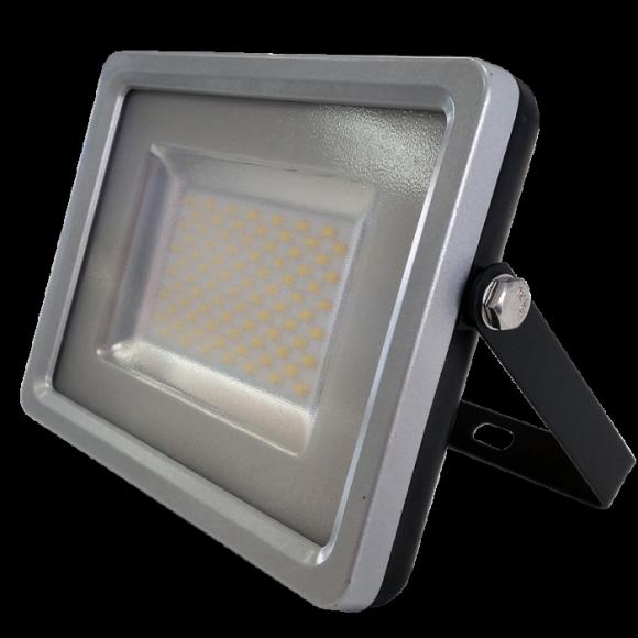SMD LED reflektor - 100W Premium, 8000lm, Studená biela, sivo-čierny