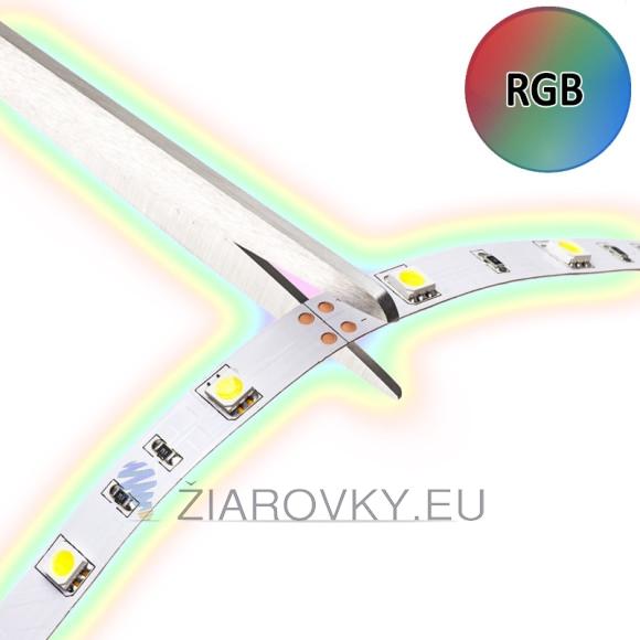Viacfarebný LED pás, SMD 5050, 30led:5metrov, RGB, 7.2W:M je samolepiaci ohybný LED pás v dĺžke ktorej si sami nastavíte.