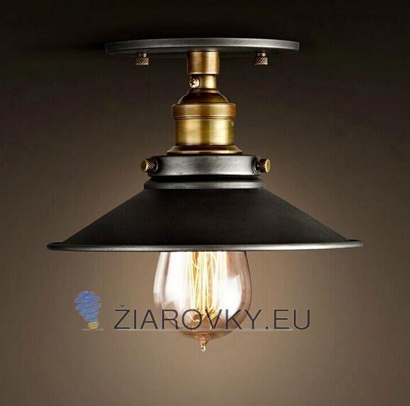 Historické stropné svietidlo Cafe v čiernej farbe na žiarovky typu E27 je svietidlo určené na strop v rustikálnom vzhľade 580x574 AKCIE !