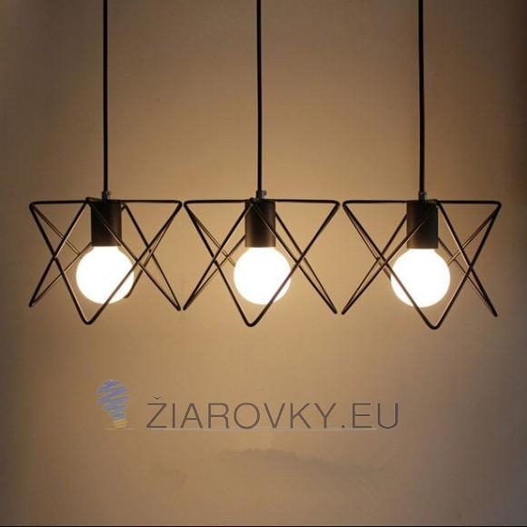 Moderné kreatívne svietidlo v čiernej farbe na žiarovky typu E27 je svietidlo určené na strop v luxusnom modernom a zároveň kreatívnom vzhľade