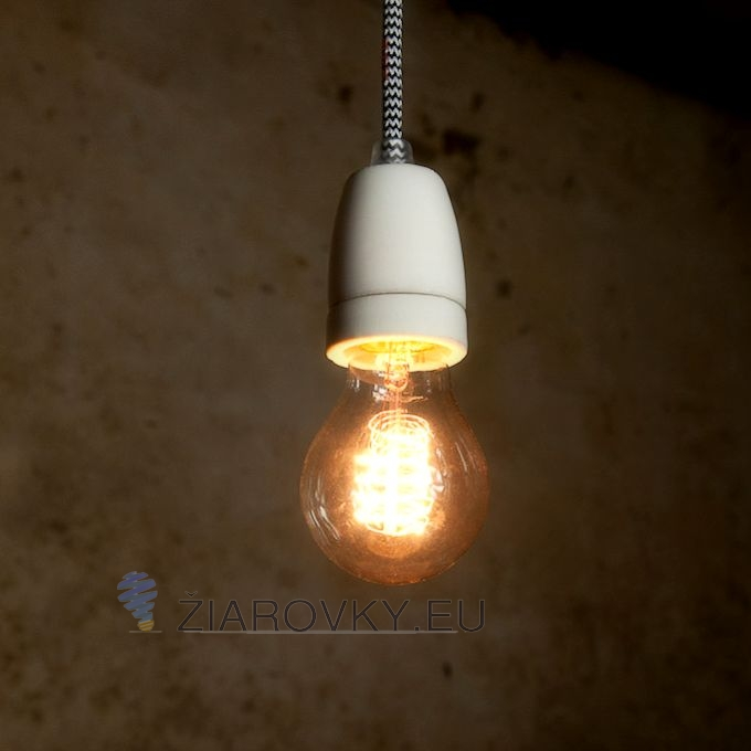Porcelánové závesné svietidlá a lampy sú tvorené originálnymi textilnými káblami s dĺžkami 1 meter Porcelánové závesné svietidlá
