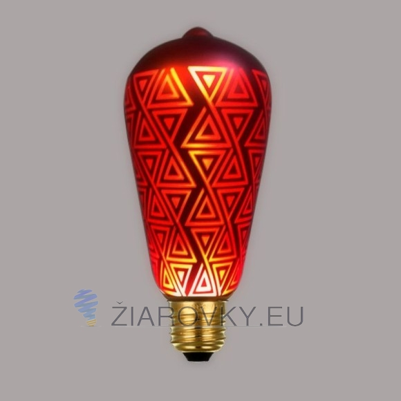 CHRISTMAS žiarovka - RED TRIANGLE - je žiarovka z kreatívnej kolekcie CHRISTMAS