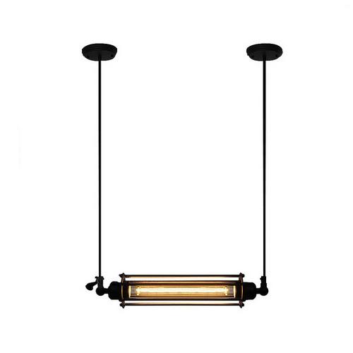 Historický závesný horizontálny luster, 1 pätica, čierna farba (2)