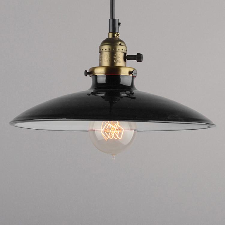 Historické klasické závesné svietidlo s lesklým tienidlom v čiernej farbe1 Kolekcia priemyselných lesklých svietidiel
