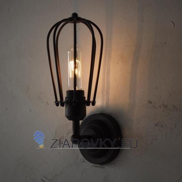 Historické nástenné svietidlo s okrúhlou klietkou na žiarovky typu E27 je svietidlo určené na stenu v rustikálnom vzhľade 580x580 Kolekcia historických a rustikálnych svitidiel