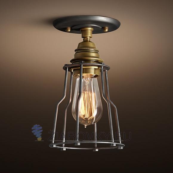 Historické stropné svietidlo Cage v retro dizajne 580x580 AKCIE !