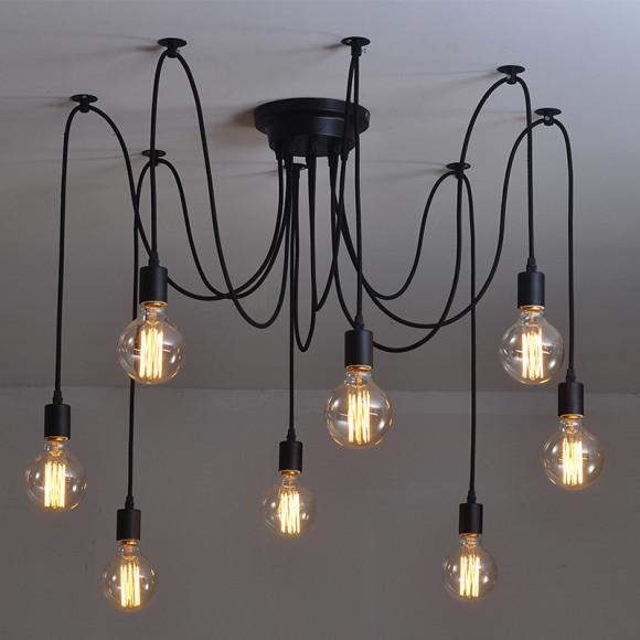 Historické závesné svietidlo Pavúk na žiarovky typu E27 je svietidlo určené na strop v pavučinovom vzhľade 2 580x580 AKCIE !
