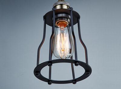Historické stropné svietidlo Cage v retro dizajne2