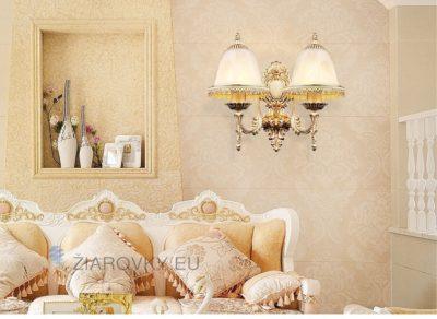 Luxusné dvojité nástenné svietidlo Medúza s ručnou maľbou na žiarovky typu E27 je svietidlo určené na stenu v exkluzívnom dizajne. (4)