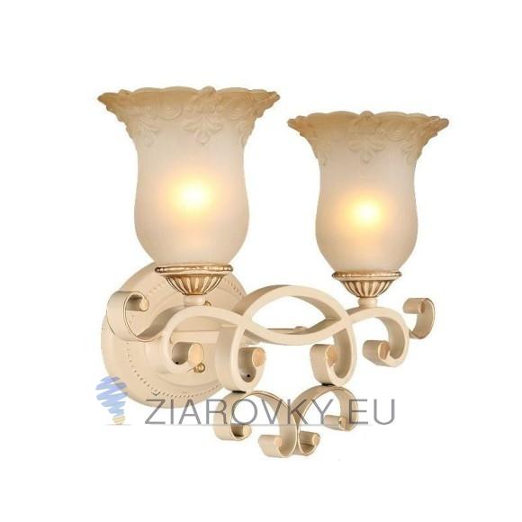 Luxusné dvojité nástenné svietidlo Krčah s ručnou maľbou (9)