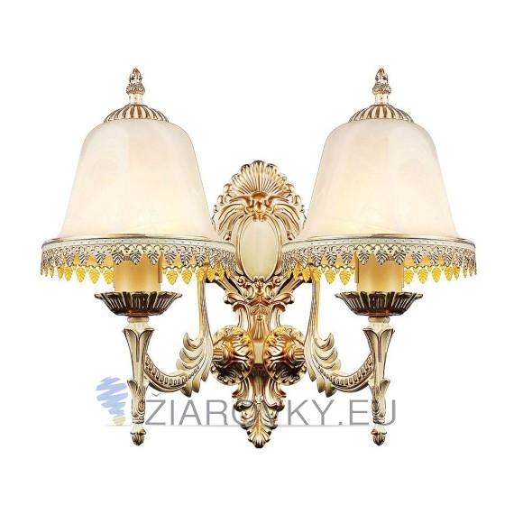 Luxusné dvojité nástenné svietidlo Medúza s ručnou maľbou na žiarovky typu E27 je svietidlo určené na stenu v exkluzívnom dizajne. (7)